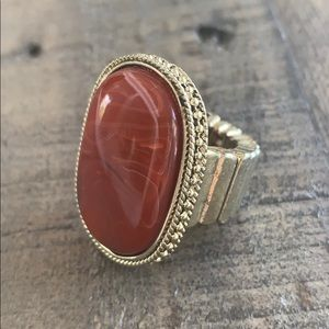 Brownstone stretchable ring 🧡